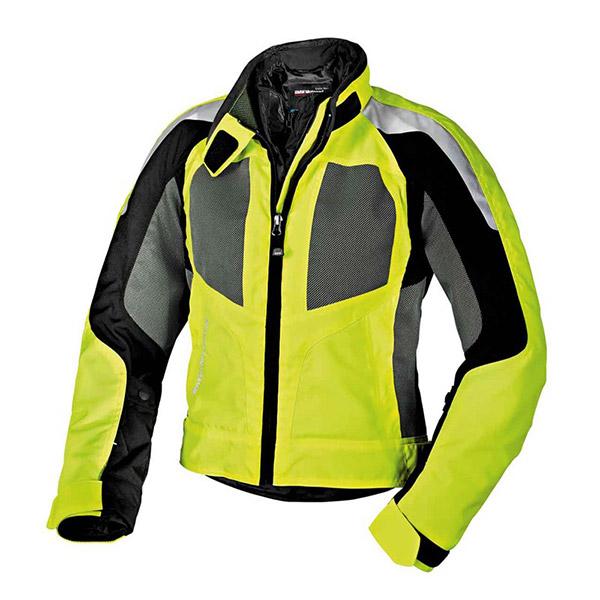 giacca airshell uomo moto bmw motorrad colore giallo neon/grigio