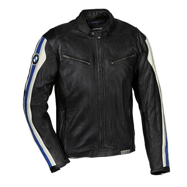 huge selection of f3c0a f1b3f Giacca Club in Pelle Uomo Moto Bmw Motorrad Colore Nero/Bianco