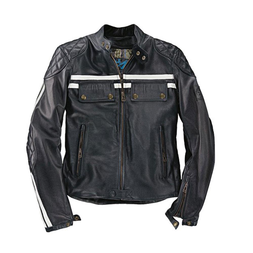 info for 564fd 4cdd7 Giacca Giubbotto Uomo Donington Moto Belstaff Colore Nero in Vitello